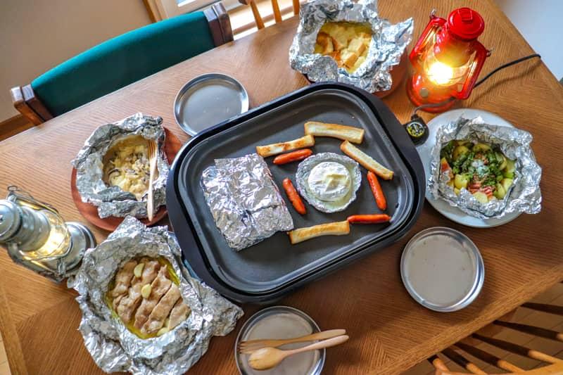 お家でキャンプ飯第2弾!ホットプレート×ホイル包みで作る簡単レシピ
