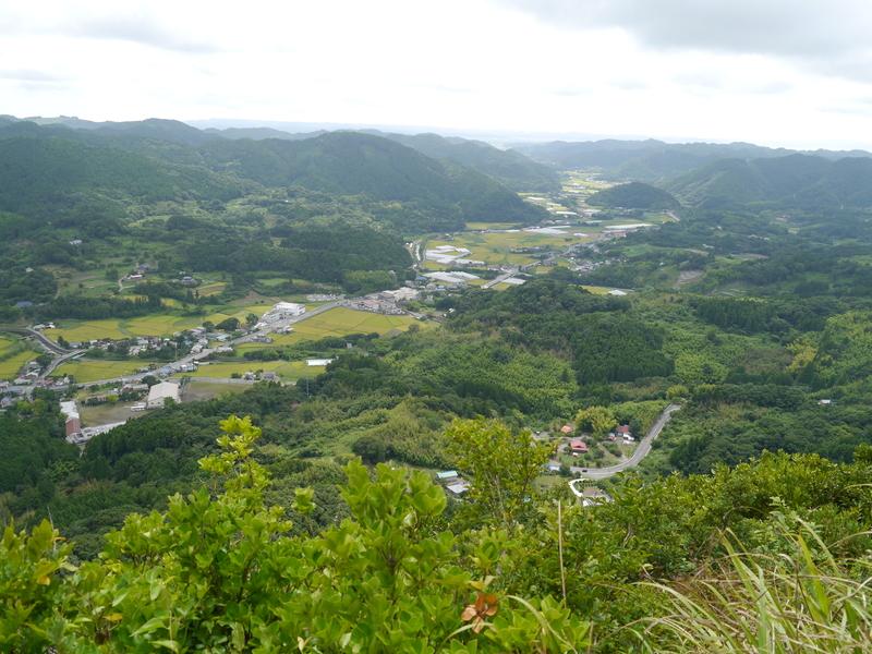 伊予ヶ岳展望台からの眺め