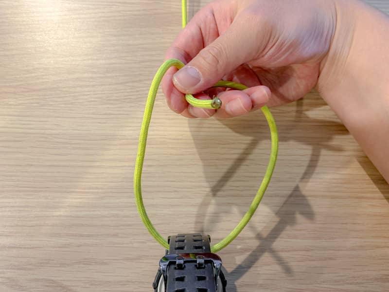 片手もやい結び(身体もやい結び)の結び方-3