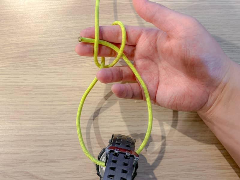 片手もやい結び(身体もやい結び)の結び方-6