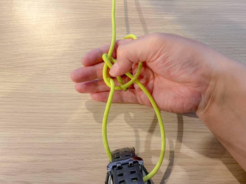 片手もやい結び(身体もやい結び)の結び方-7