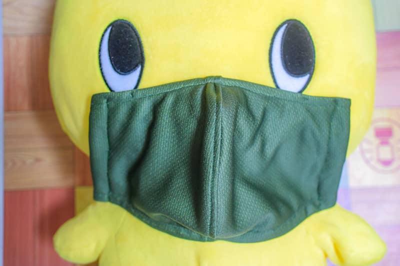 裏表とも冷却タオルを使用した自作マスク