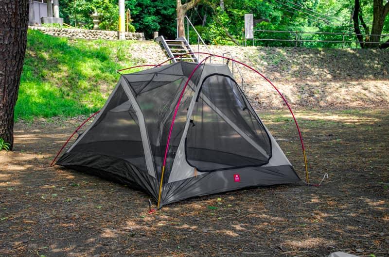 インナーテントだけでも使用できる自立式テント