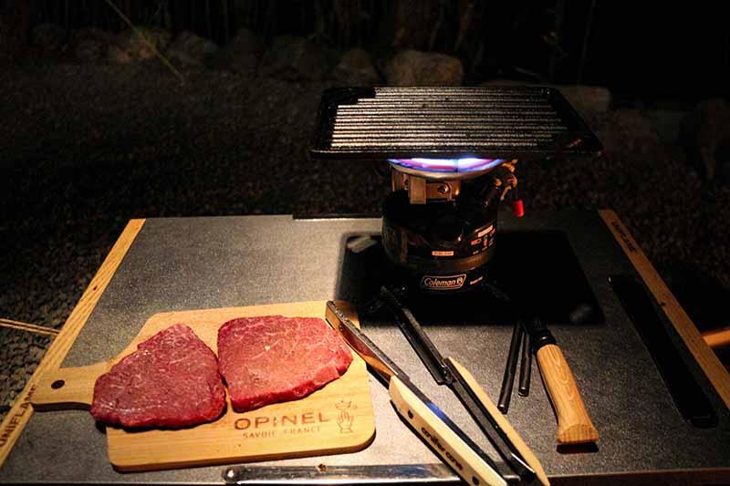 キャンプで卓上焼き肉