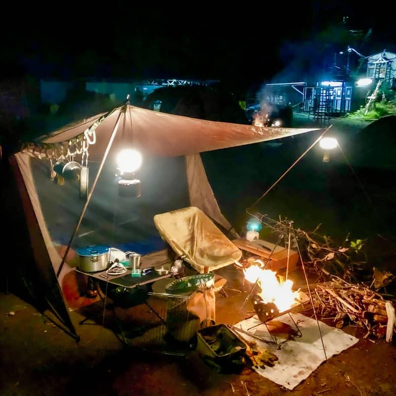 キャンプの図