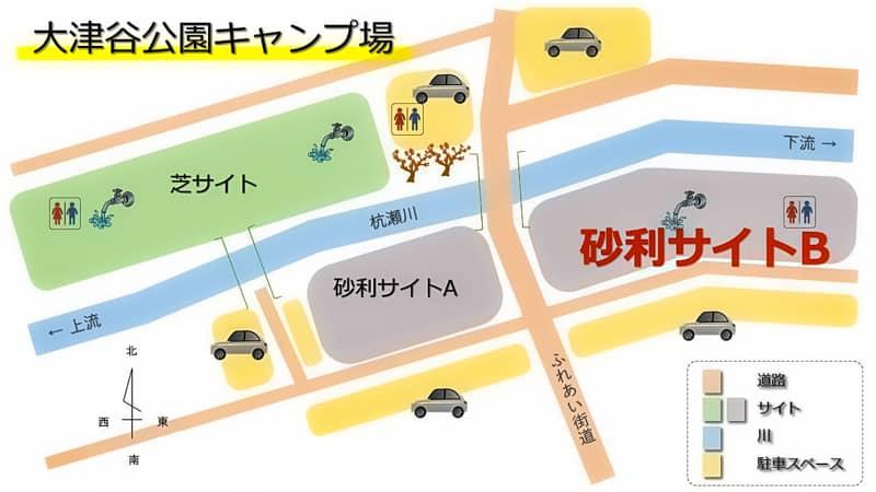 キャンプ場マップ_砂利サイトB