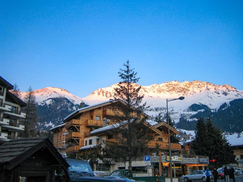 スイス-ヴァルビエ朝焼け