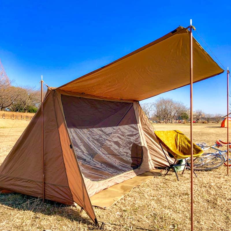 パップ風テント