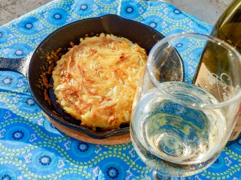 ロシュティと白ワイン