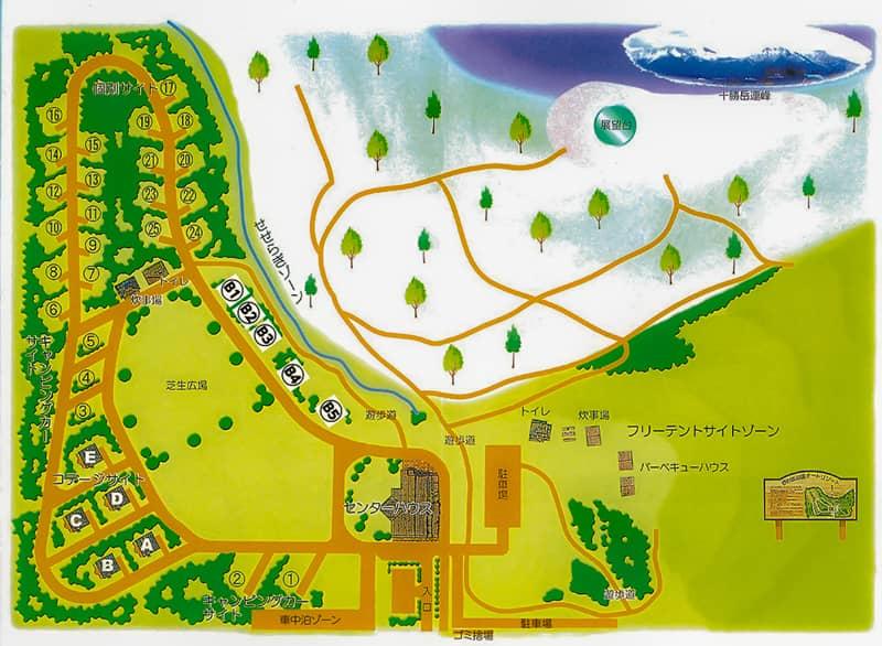 日の出公園オートキャンプ場MAP