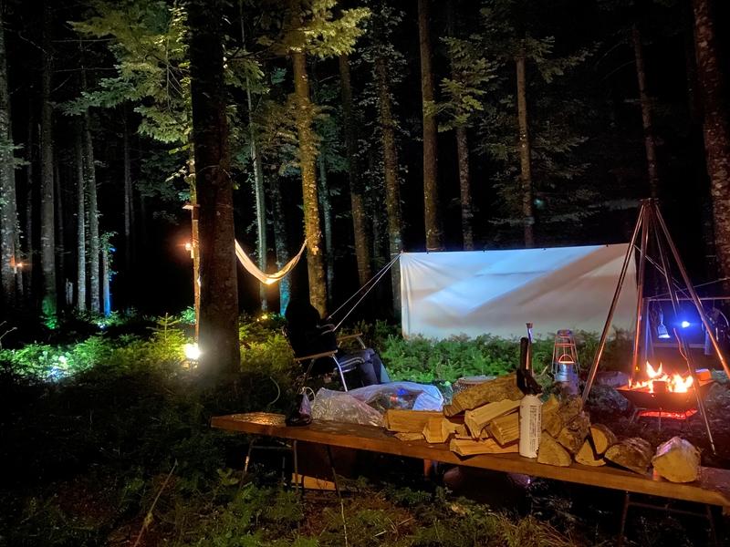 白老キャンプフィールドASOBUBAでハンモック