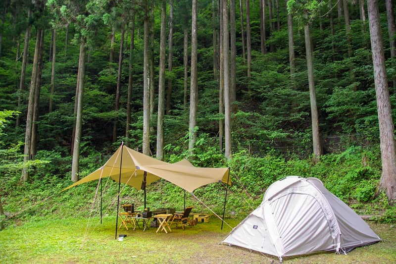 神戸園キャンプ場を利用するのであれば、家族だけで静かに楽しみたいとことろです