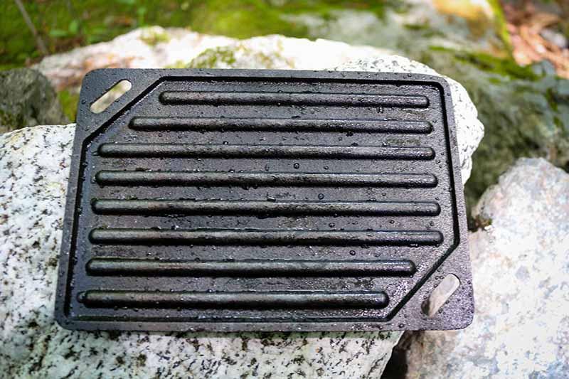 錆を落として洗った鉄板
