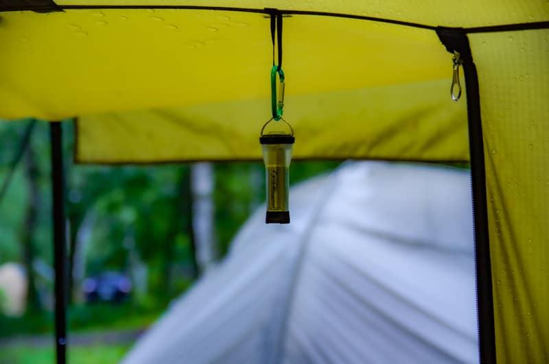雨キャンプを快適に過ごす為の装備