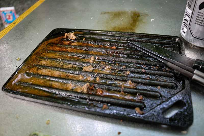 食事後の鉄板