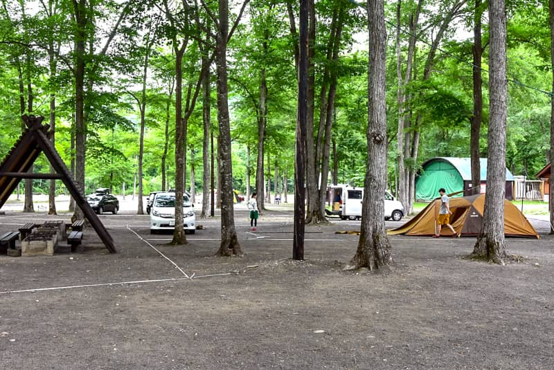 丸瀬布いこいの森オートキャンプ場第1フリーサイト