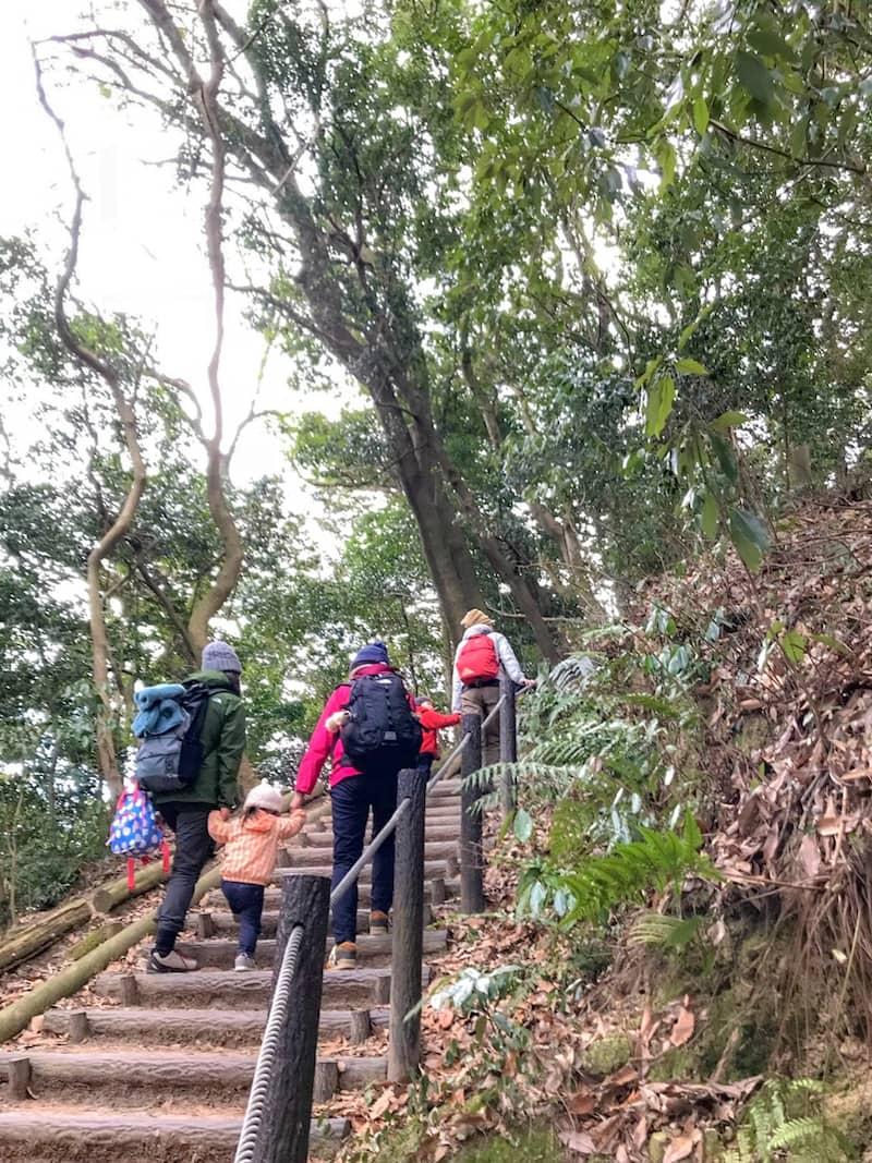 登山道に手すりや柵があって安全