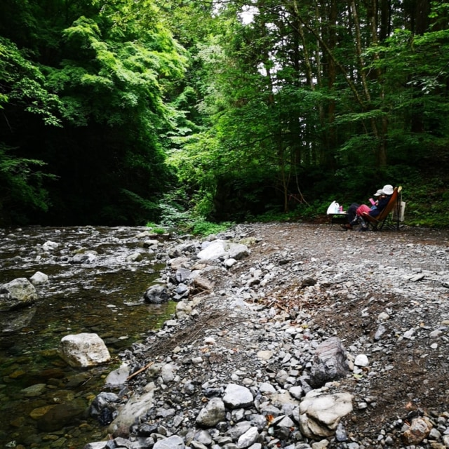 東京都にある神戸園は釣りと川遊びが楽しめる素敵なオートキャンプ場でした