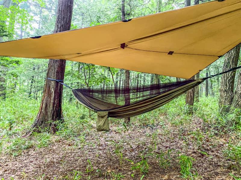 Lenzaiの蚊帳付きハンモックはキャンプ泊に使えるのか?おすすめ格安ギアレビュー