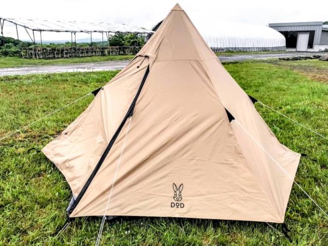 DODワンポールテントS(3人用)を買ってみた!簡単設営でおしゃれキャンプに相性抜群!