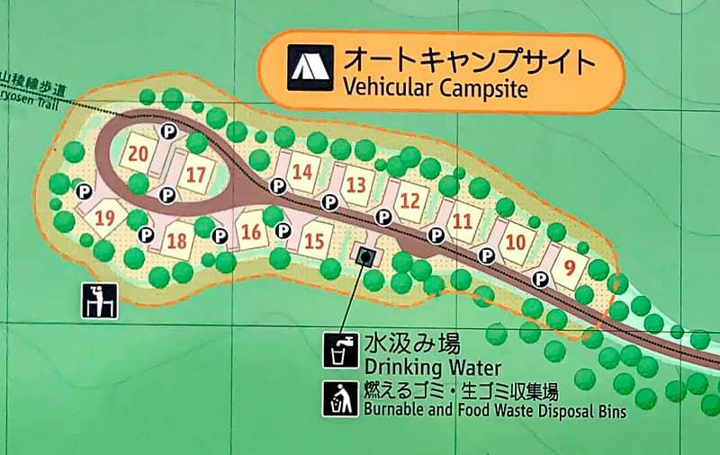 だるま山高原キャンプ場オートサイト