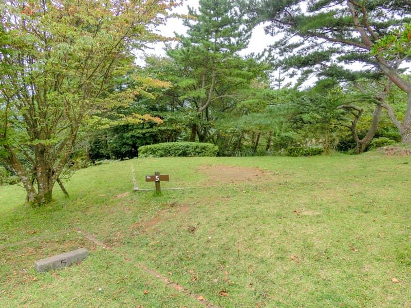 だるま山高原キャンプ場サイト5