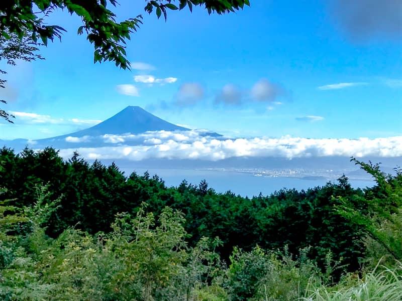 だるま山高原キャンプ場富士山の眺望
