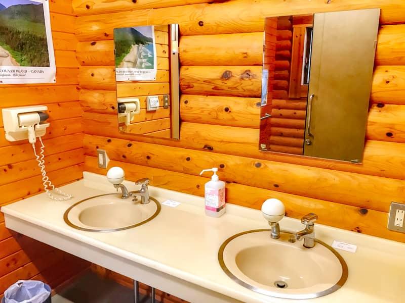 だるま山高原キャンプ場洗面所