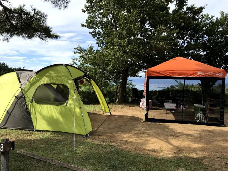 だるま山高原キャンプ場設営完了