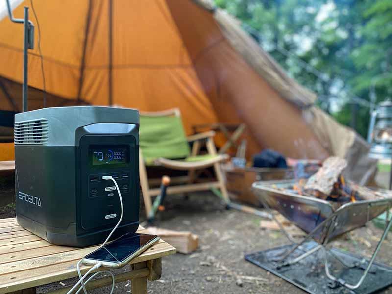 キャンプとポータブル電源