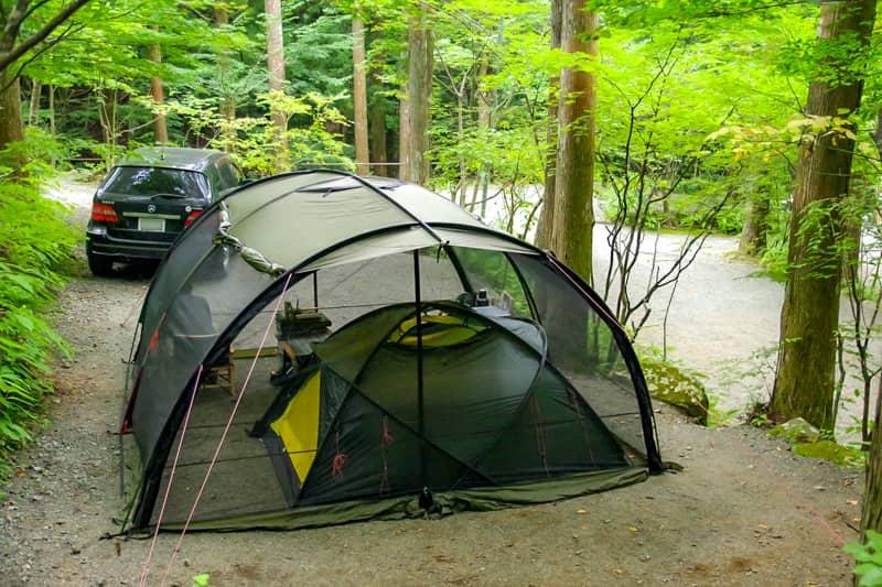 ツールームテントを設営しても全然余裕