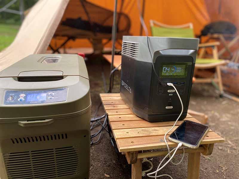 ポータブル電源とポータブル冷蔵庫