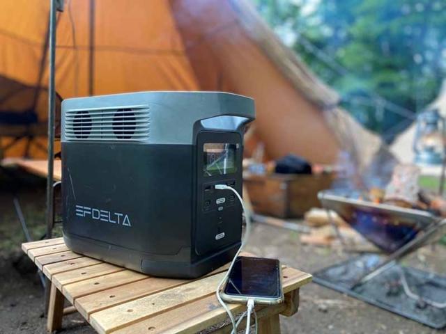ポータブル電源EFDELTAはキャンプで電力が足りるのか?実験してみた!