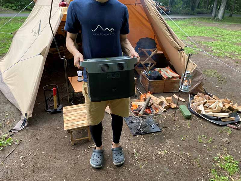 EFDELTAをキャンプ場で使用してみる