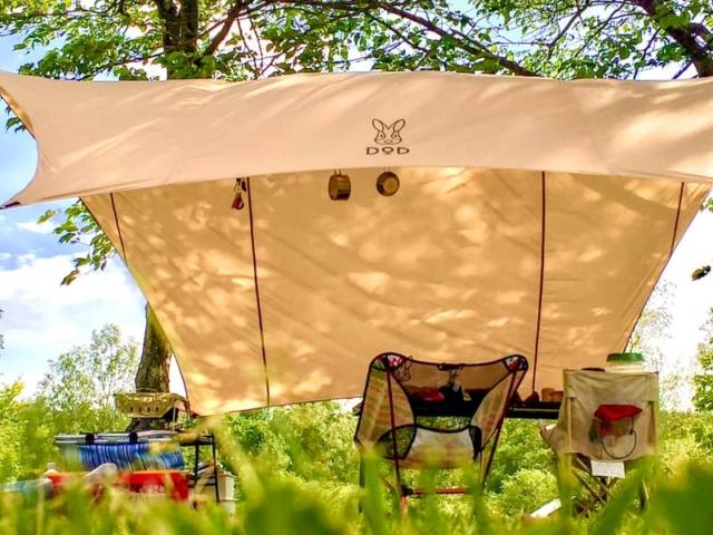 キャンプ初心者にオススメ♪いつかのタープとテキーラテーブルを買ってみた!