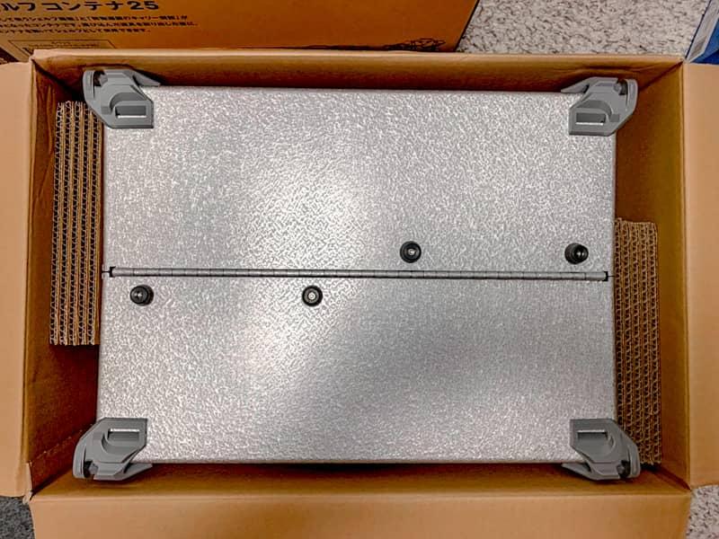 シェルフコンテナの収納ボックスとしての機能を検証