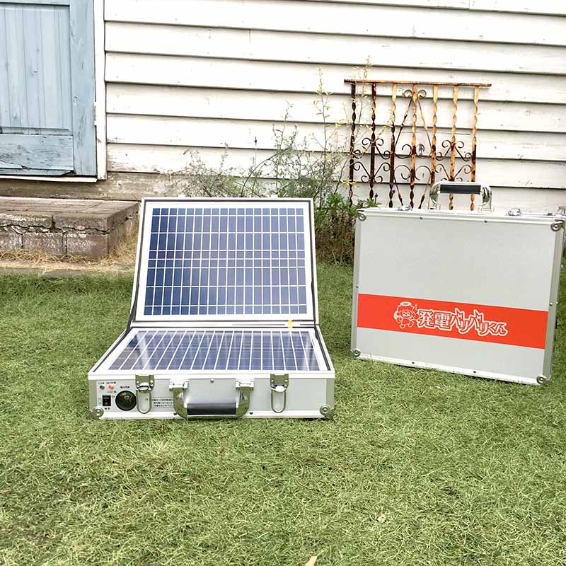 ソーラーパネルが付帯してる発電機だから便利