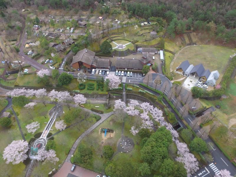 日時計の丘公園オートキャンプ場の空撮画像