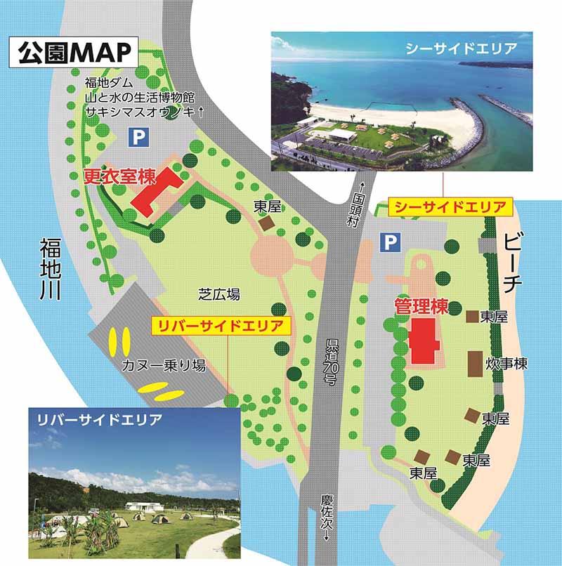 福地川海浜公園のマップ
