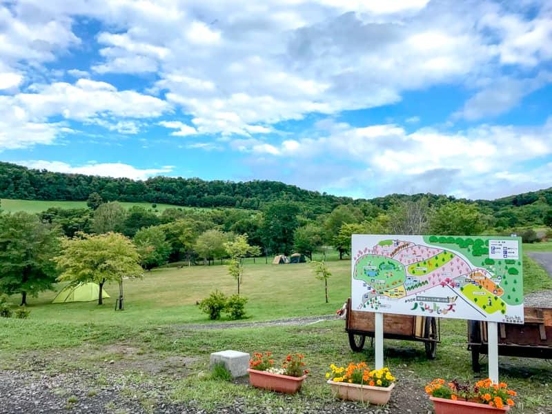 広大な敷地と絶景が素晴らしい!鷹栖パレットヒルズキャンプ場は無料でOK♪