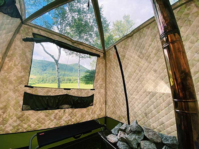 キャンプ場でサウナ