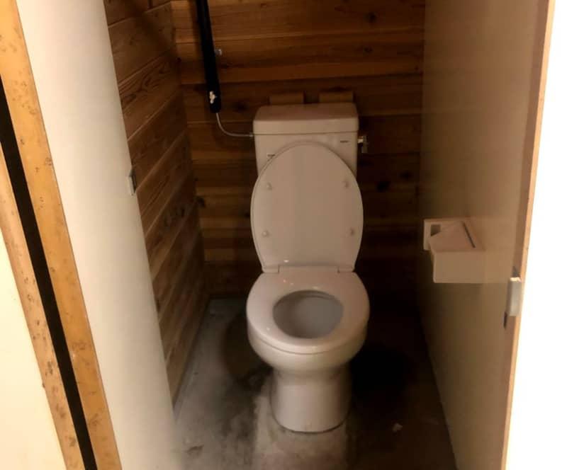 立場川キャンプ場のトイレ