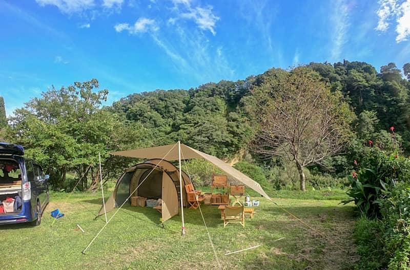 オートキャンプフルーツ村はファミリーにおすすめの自然に囲まれたキャンプ場です