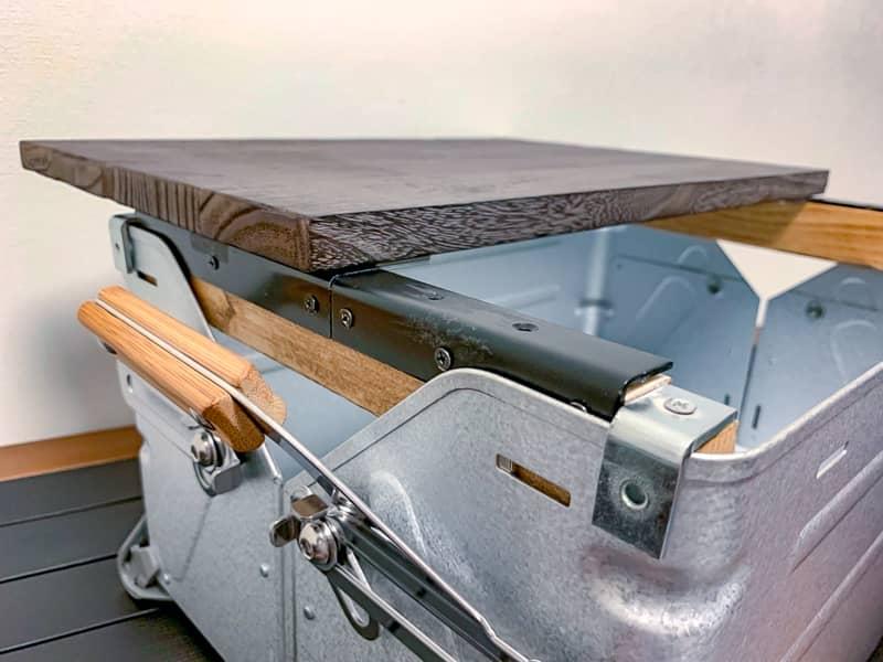 シェルフコンテナ25のスライド式天板をDIY!素人でもプラモデル感覚で簡単に作れます