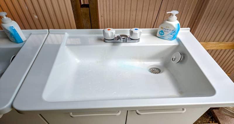 かもしかオートキャンプ場の手洗い場