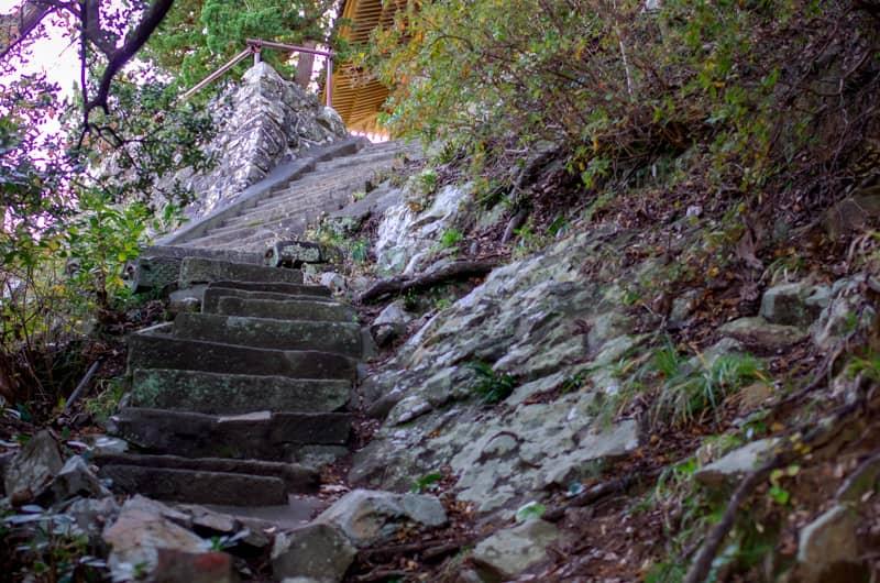 本殿に続く階段