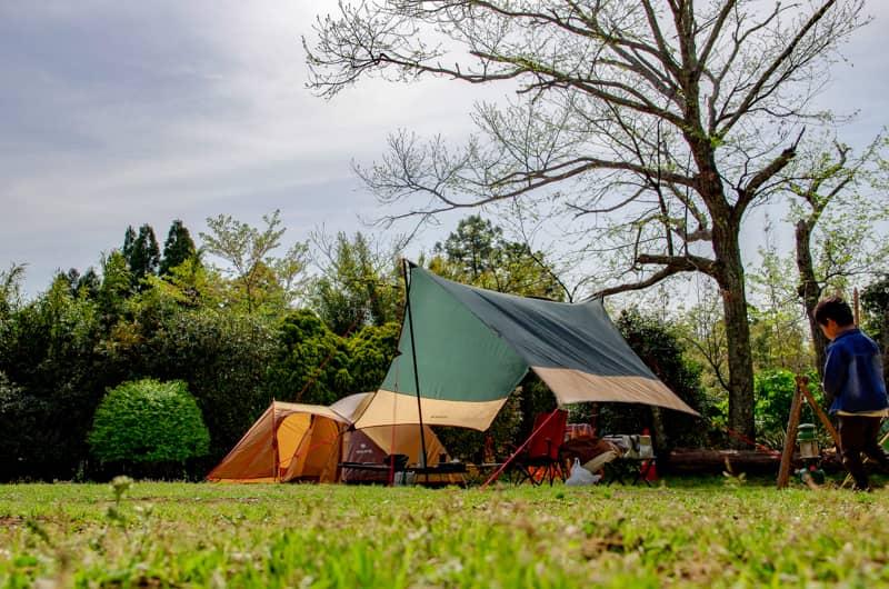水辺ではないキャンプ場