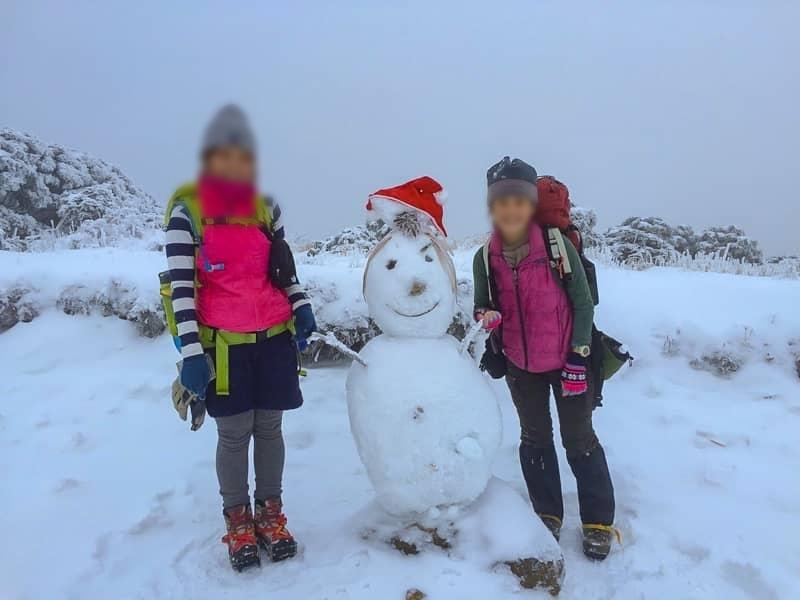 雪山でオラフを発見