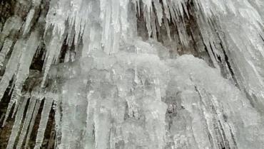極寒の冬にしか出会うことができない「大つらら」を見に、難所ヶ滝に登ってきました!