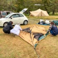 初キャンプと思えないほど手慣れた女性2人を連れて西会津「さゆりオートパーク」へ!